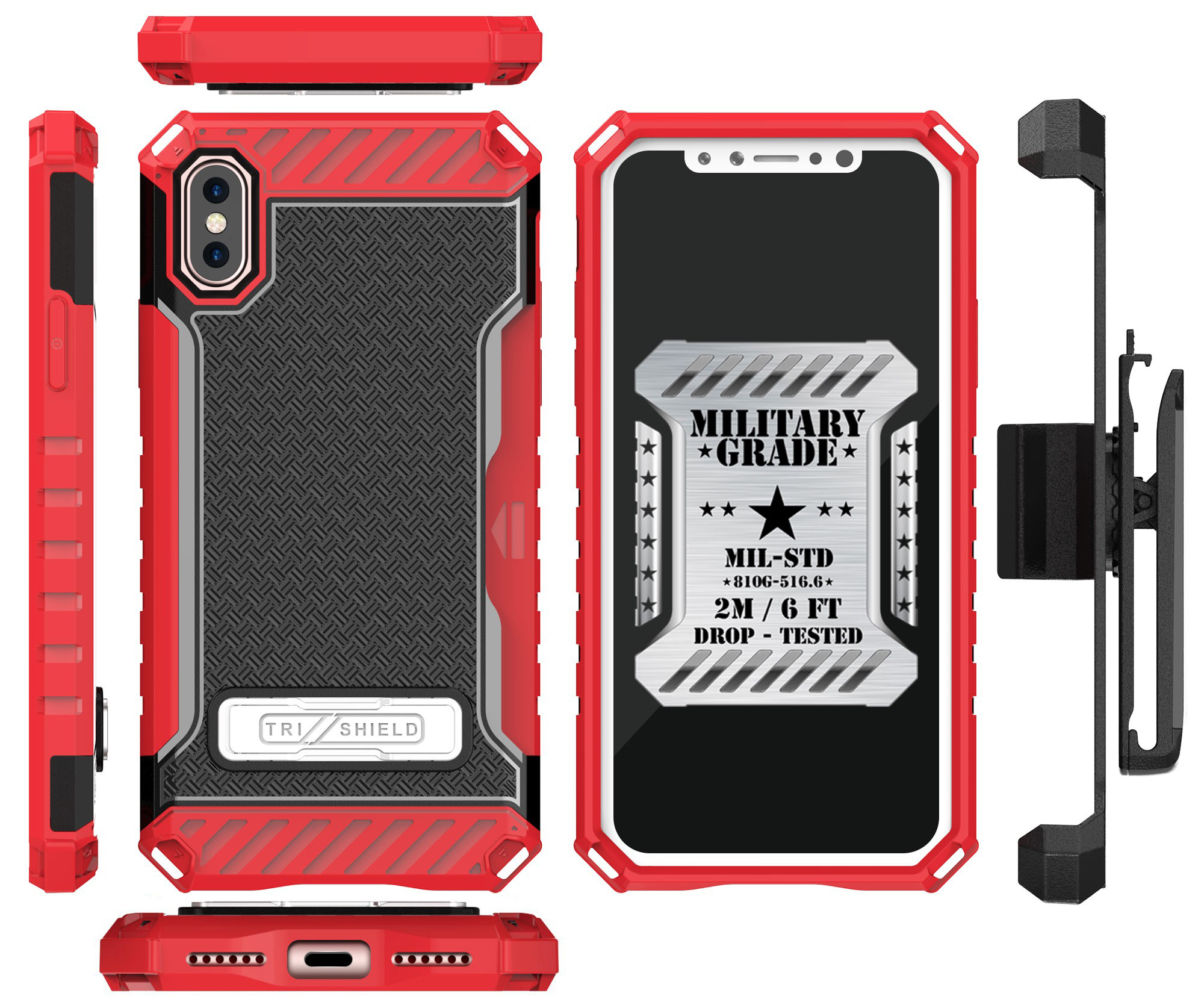 thumbnail 19 - TRI-SHIELD RUGGED CASE STAND CARD SLOT + BELT CLIP HOLSTER FOR APPLE iPHONE X 10