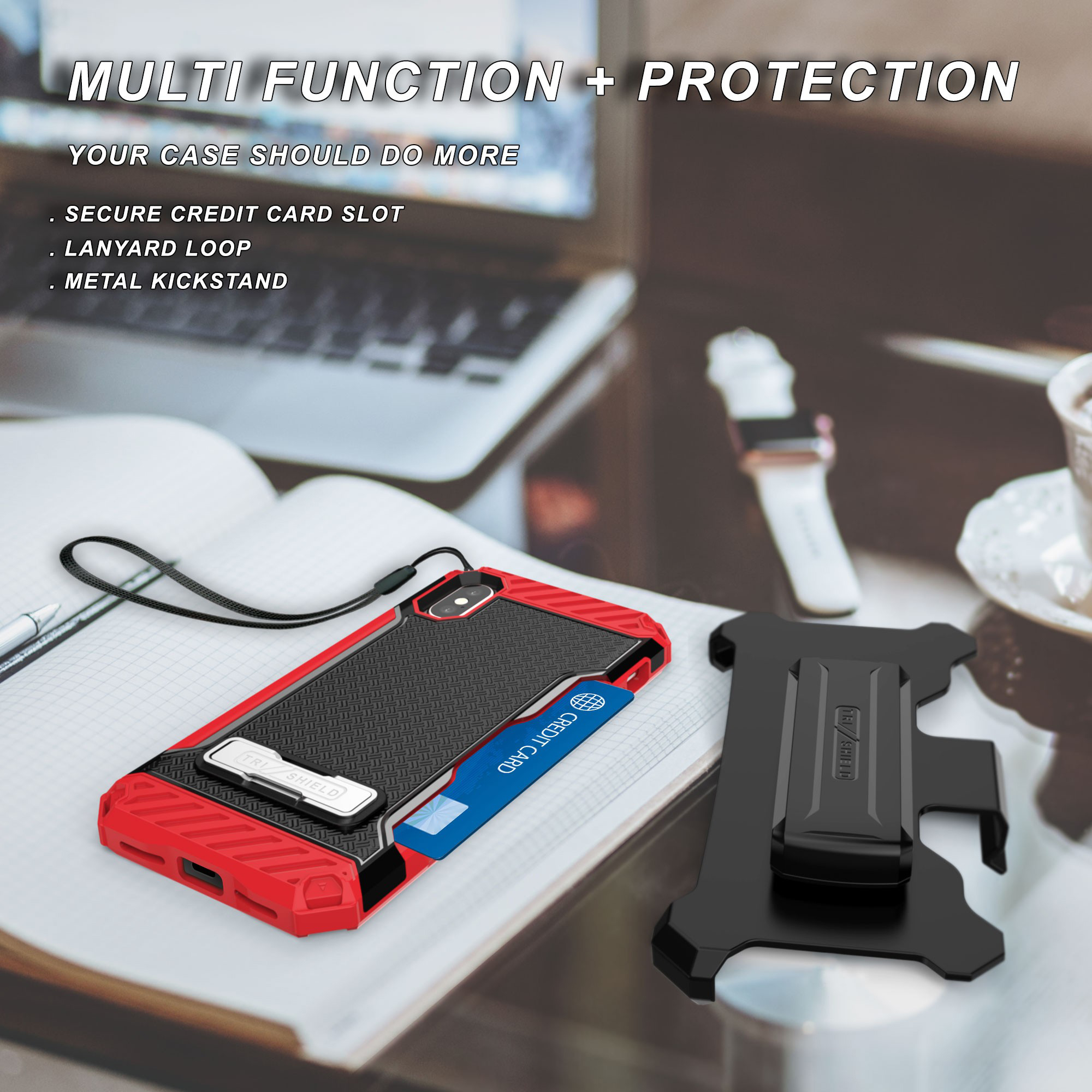 thumbnail 17 - TRI-SHIELD RUGGED CASE STAND CARD SLOT + BELT CLIP HOLSTER FOR APPLE iPHONE X 10