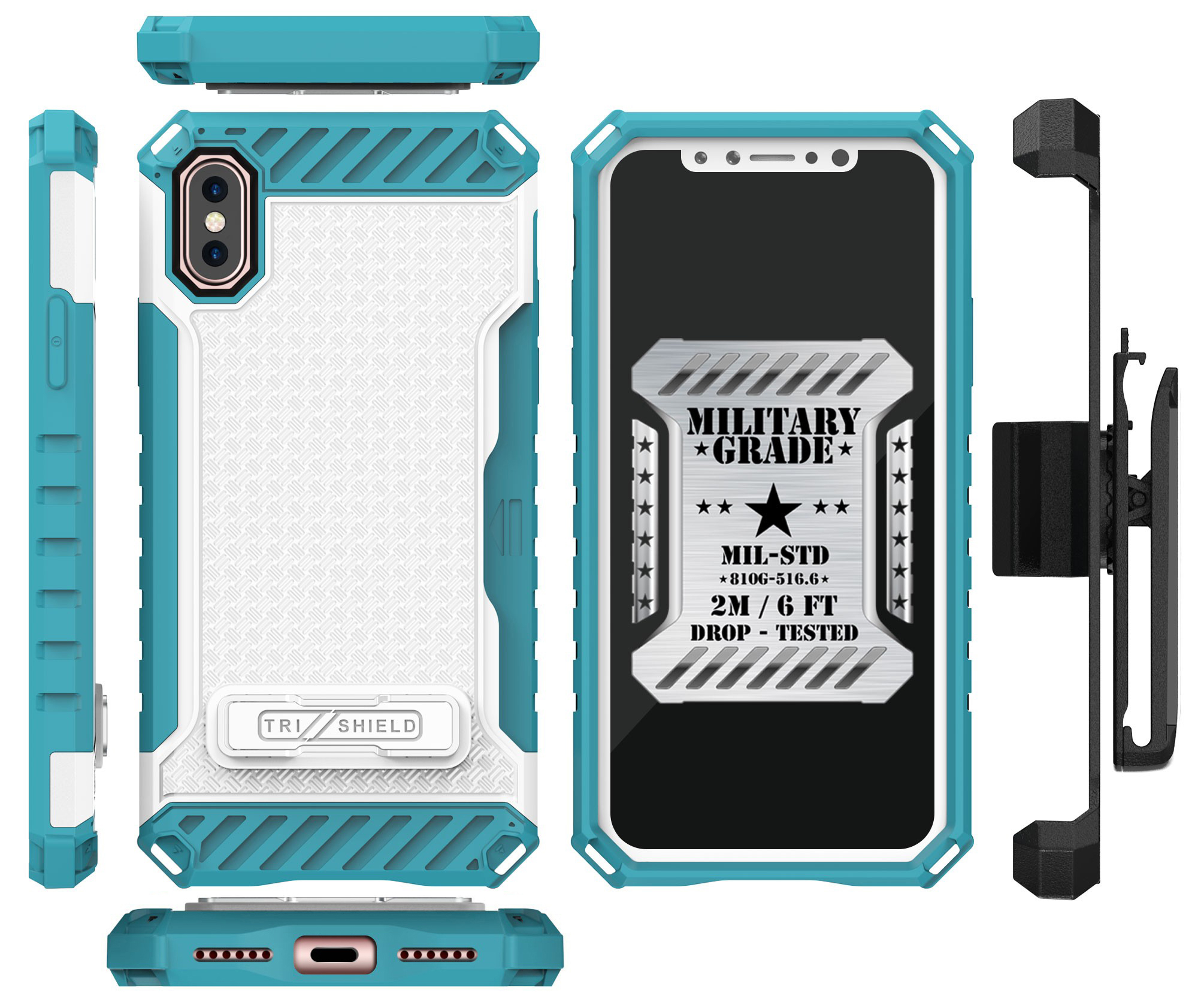thumbnail 25 - TRI-SHIELD RUGGED CASE STAND CARD SLOT + BELT CLIP HOLSTER FOR APPLE iPHONE X 10
