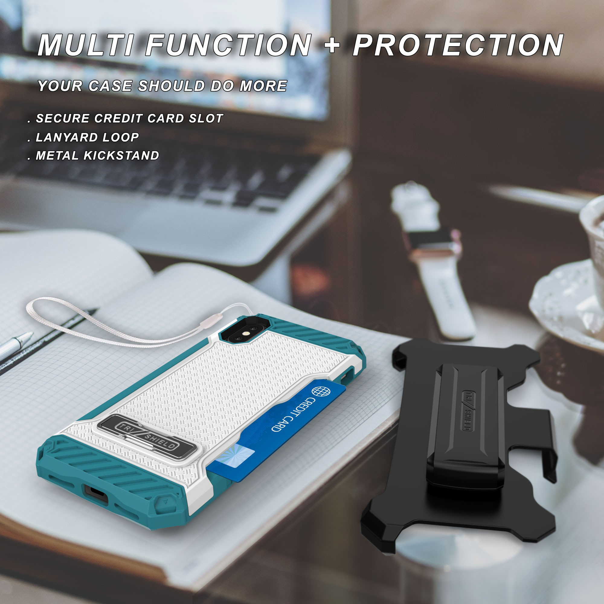 thumbnail 23 - TRI-SHIELD RUGGED CASE STAND CARD SLOT + BELT CLIP HOLSTER FOR APPLE iPHONE X 10