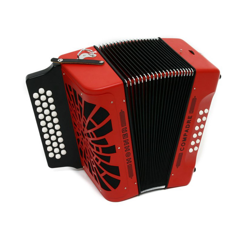 hohner compadre diatonic button accordion key of gcf red model cogr ebay. Black Bedroom Furniture Sets. Home Design Ideas