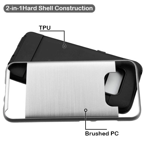 miniature 27 - For Samsung Galaxy S8 Brushed Rugged Hybrid Phone Protector Hard Case Cover