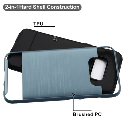 miniature 15 - For Samsung Galaxy S8 Brushed Rugged Hybrid Phone Protector Hard Case Cover