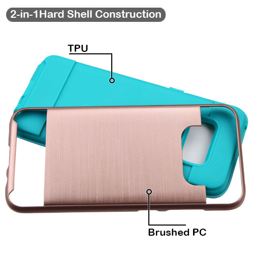 miniature 24 - For Samsung Galaxy S8 Brushed Rugged Hybrid Phone Protector Hard Case Cover