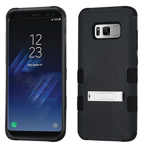 miniature 11 - For Samsung Galaxy S8 TUFF Hybrid Phone Hard Impact Protector Case Cover w/Stand