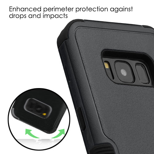 miniature 15 - For Samsung Galaxy S8 TUFF Hybrid Phone Hard Impact Protector Case Cover w/Stand