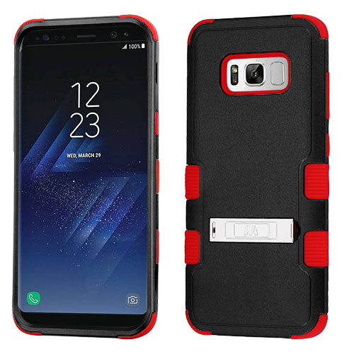 miniature 27 - For Samsung Galaxy S8 TUFF Hybrid Phone Hard Impact Protector Case Cover w/Stand