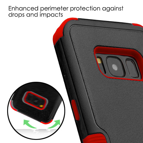 miniature 31 - For Samsung Galaxy S8 TUFF Hybrid Phone Hard Impact Protector Case Cover w/Stand
