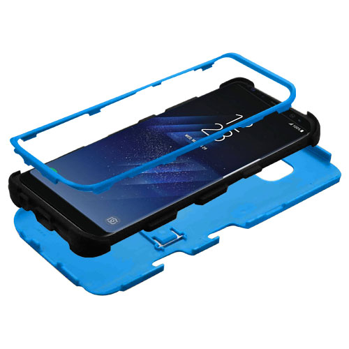 miniature 44 - For Samsung Galaxy S8 TUFF Hybrid Phone Hard Impact Protector Case Cover w/Stand