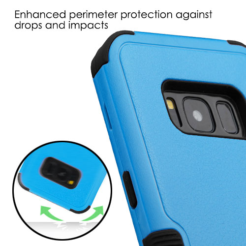 miniature 47 - For Samsung Galaxy S8 TUFF Hybrid Phone Hard Impact Protector Case Cover w/Stand