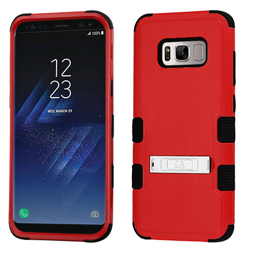 miniature 67 - For Samsung Galaxy S8 TUFF Hybrid Phone Hard Impact Protector Case Cover w/Stand