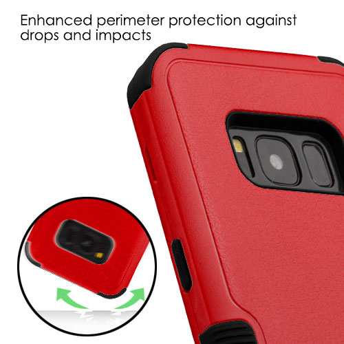 miniature 71 - For Samsung Galaxy S8 TUFF Hybrid Phone Hard Impact Protector Case Cover w/Stand
