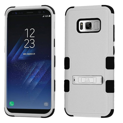 miniature 51 - For Samsung Galaxy S8 TUFF Hybrid Phone Hard Impact Protector Case Cover w/Stand