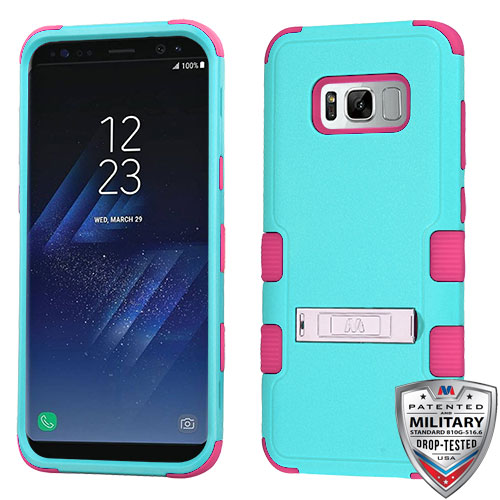 miniature 75 - For Samsung Galaxy S8 TUFF Hybrid Phone Hard Impact Protector Case Cover w/Stand