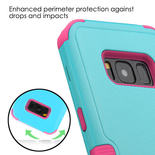 miniature 79 - For Samsung Galaxy S8 TUFF Hybrid Phone Hard Impact Protector Case Cover w/Stand
