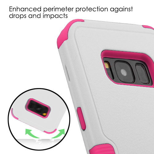 miniature 39 - For Samsung Galaxy S8 TUFF Hybrid Phone Hard Impact Protector Case Cover w/Stand