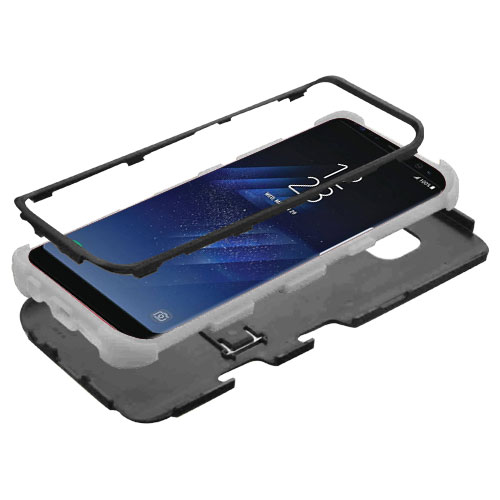 miniature 20 - For Samsung Galaxy S8 TUFF Hybrid Phone Hard Impact Protector Case Cover w/Stand
