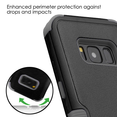 miniature 23 - For Samsung Galaxy S8 TUFF Hybrid Phone Hard Impact Protector Case Cover w/Stand