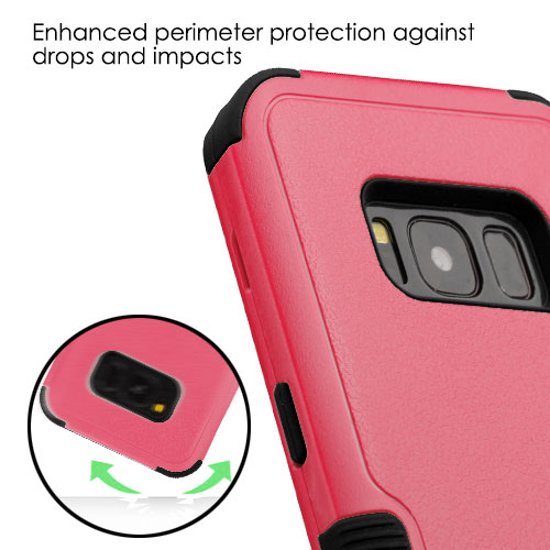 miniature 63 - For Samsung Galaxy S8 TUFF Hybrid Phone Hard Impact Protector Case Cover w/Stand