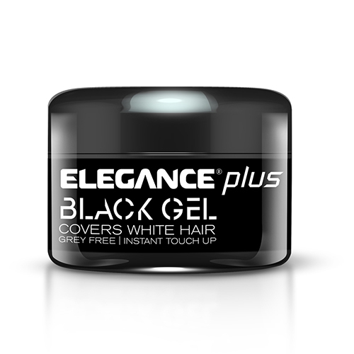 black hair styling gel elegance plus s hair gel and color instant touch up 8313