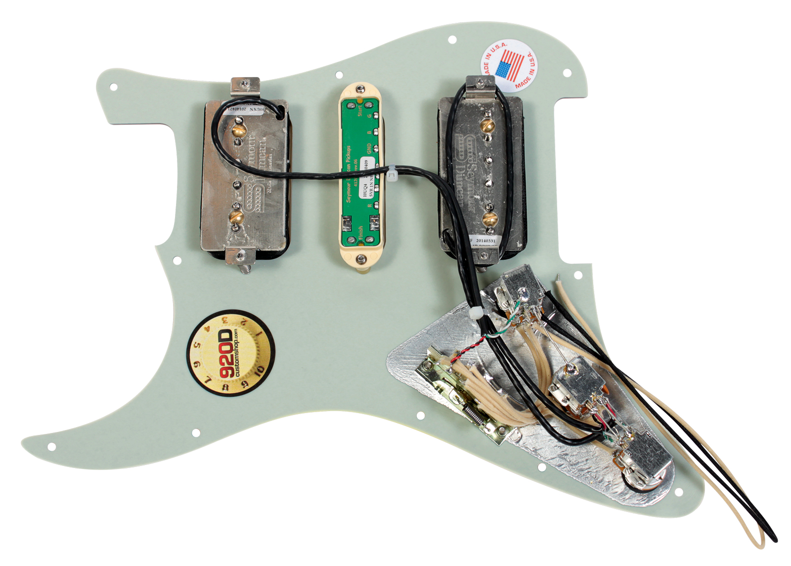 920d custom loaded strat pickguard with seymour duncan hsh p rails ebay. Black Bedroom Furniture Sets. Home Design Ideas