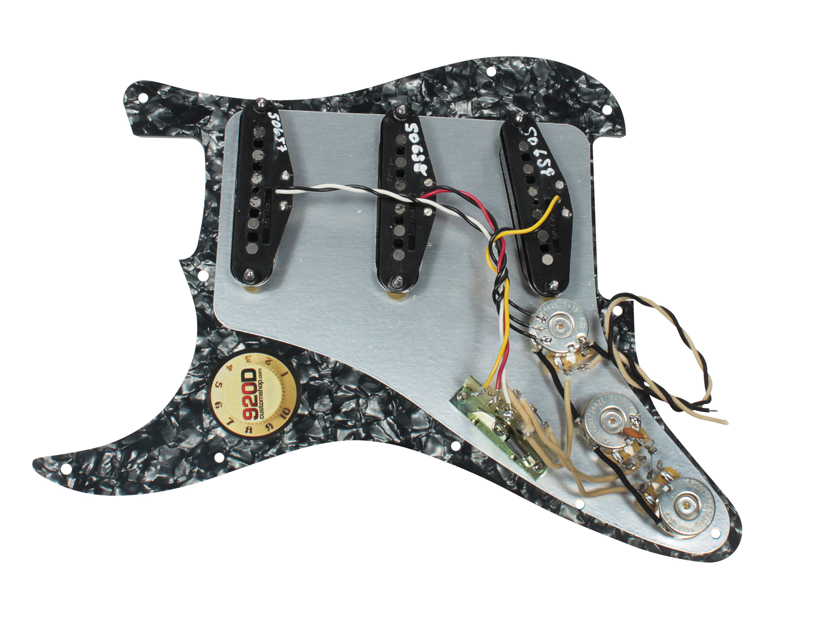 fender tex mex 920d loaded pre wired strat pickguard bp bk ebay. Black Bedroom Furniture Sets. Home Design Ideas