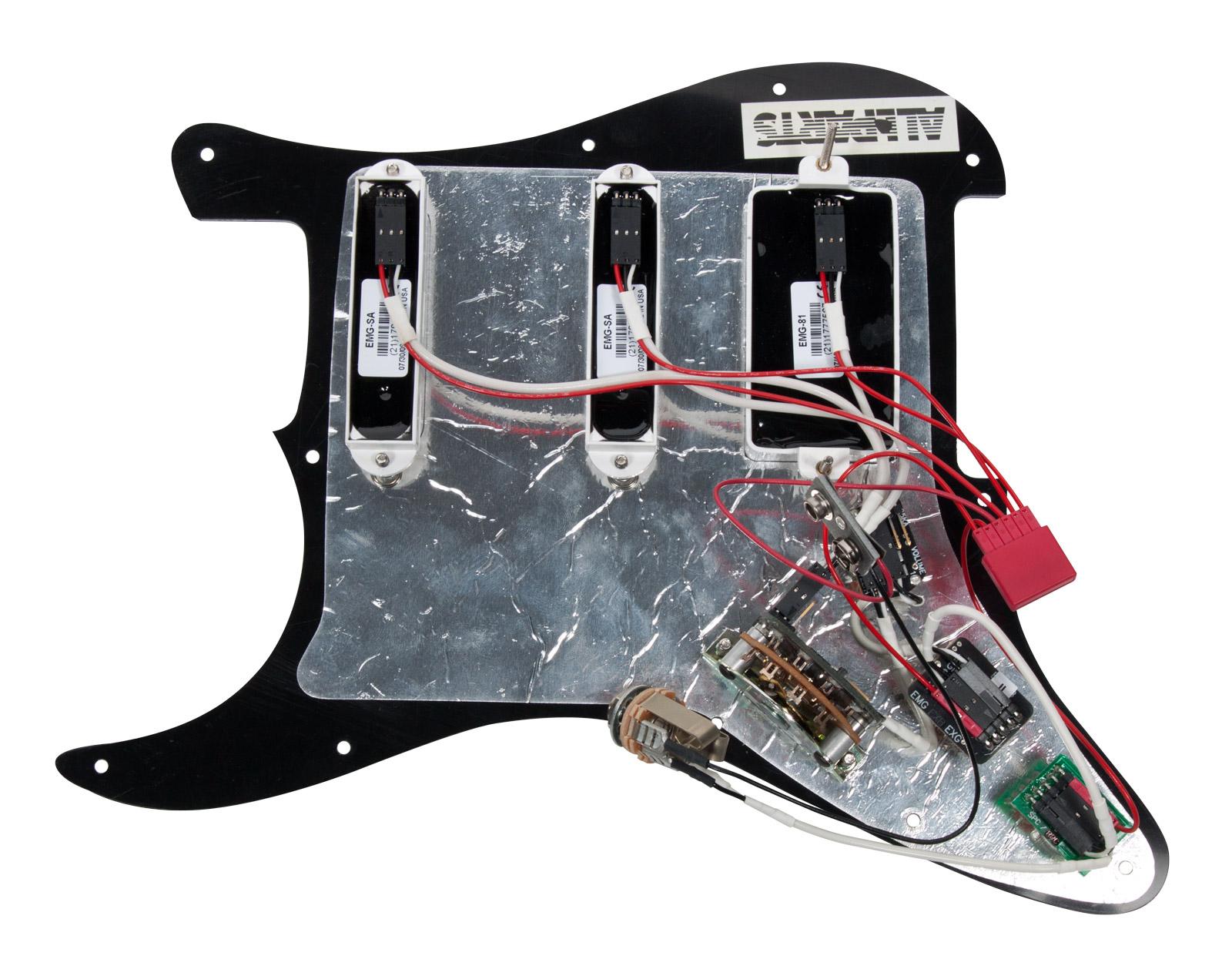 920d custom loaded black pickguard emg sa sa 81 white hss. Black Bedroom Furniture Sets. Home Design Ideas