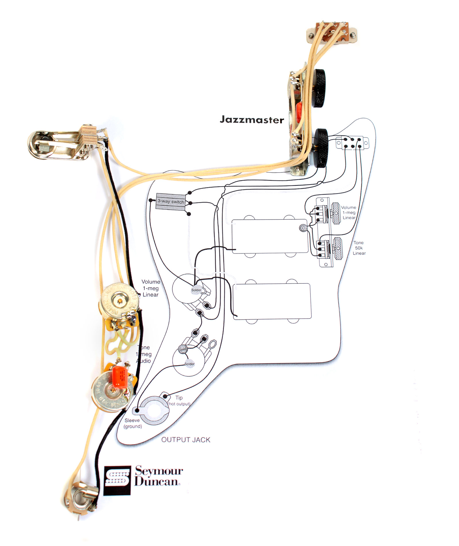 1979 fender stratocaster wiring diagram 1972 fender stratocaster wiring diagram fender vintage traditional jazzmaster guitar pre-wired ...