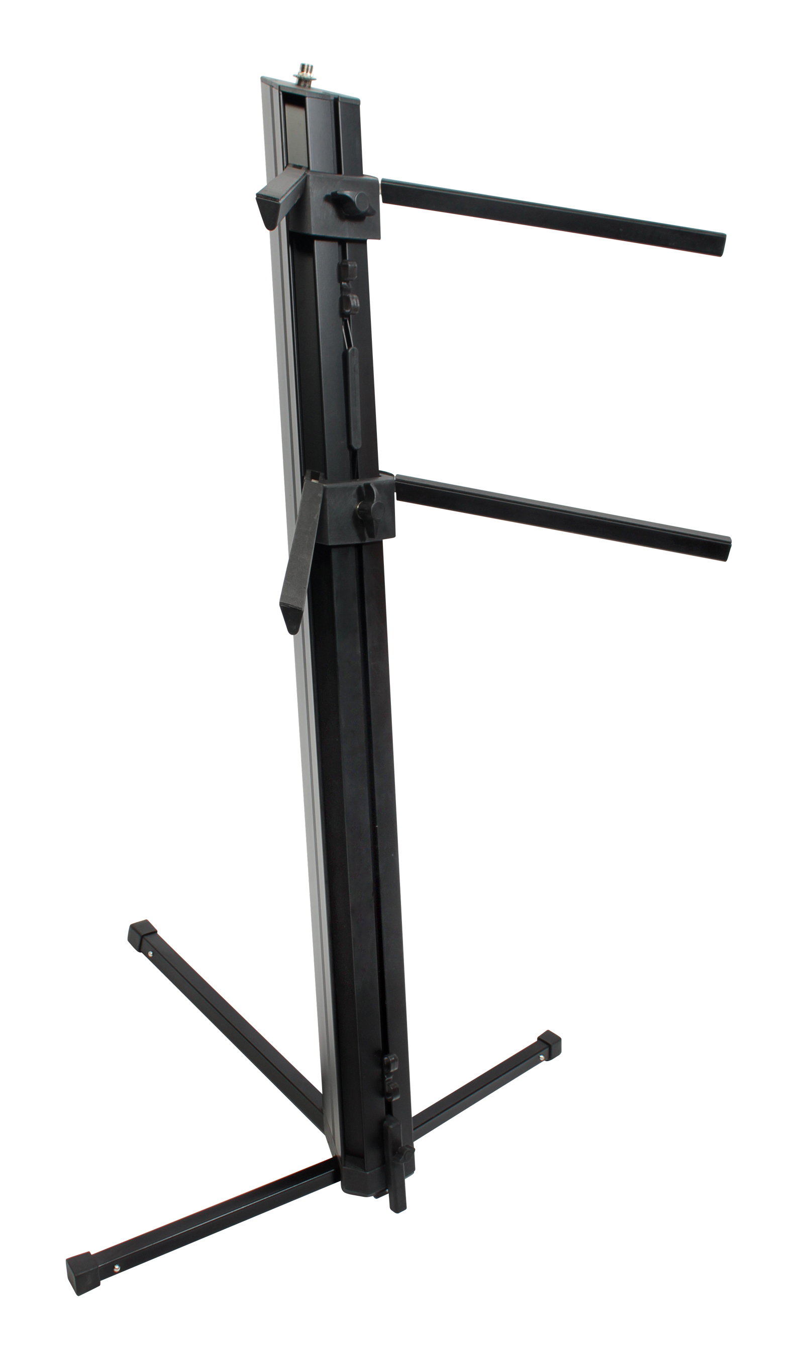 xspro two tier column keyboard stand with microphone mount xkb300b black ebay. Black Bedroom Furniture Sets. Home Design Ideas