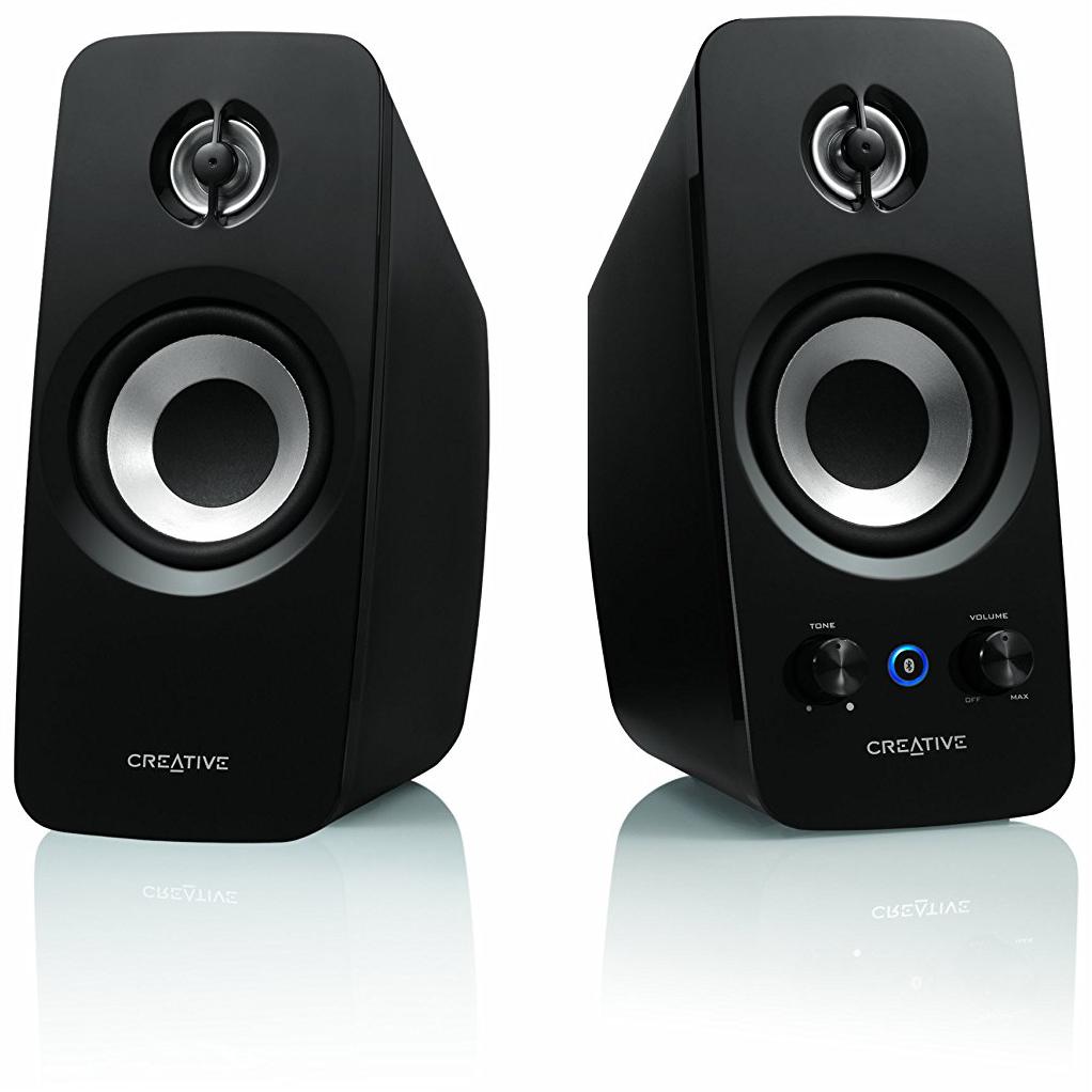 Creative T15 2 Piece Wireless Bluetooth Speaker W/ 3.5mm Headphone & Aux Jack