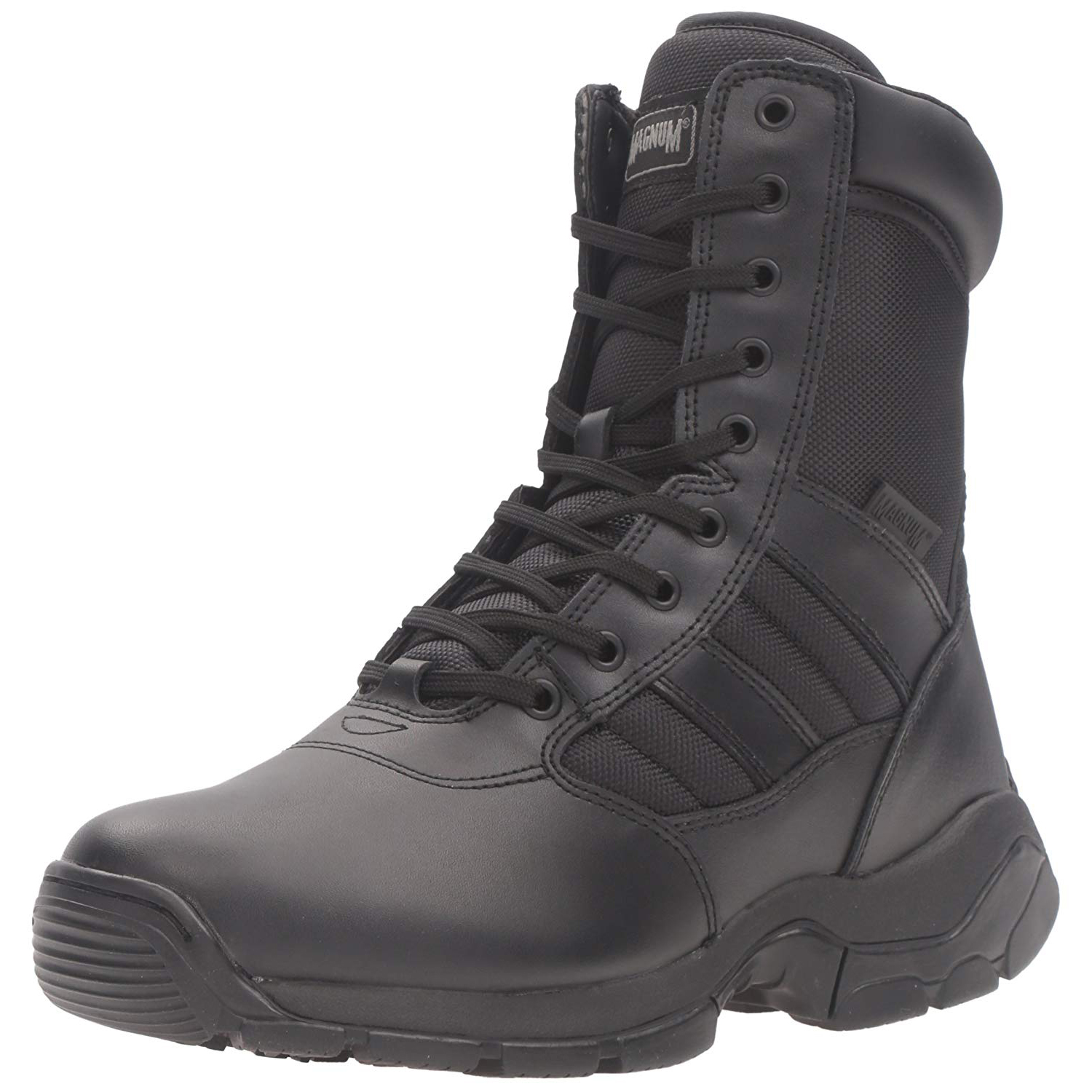 faf42f6e712 Details about Magnum Tactical/Work Panther 8.0 Size Zip Leather & Nylon  Boots - 7127