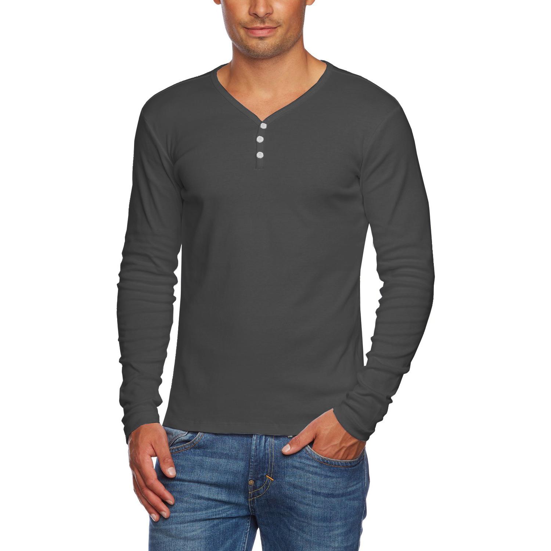 alta men 39 s slim fit v neck long sleeve cotton t shirt with