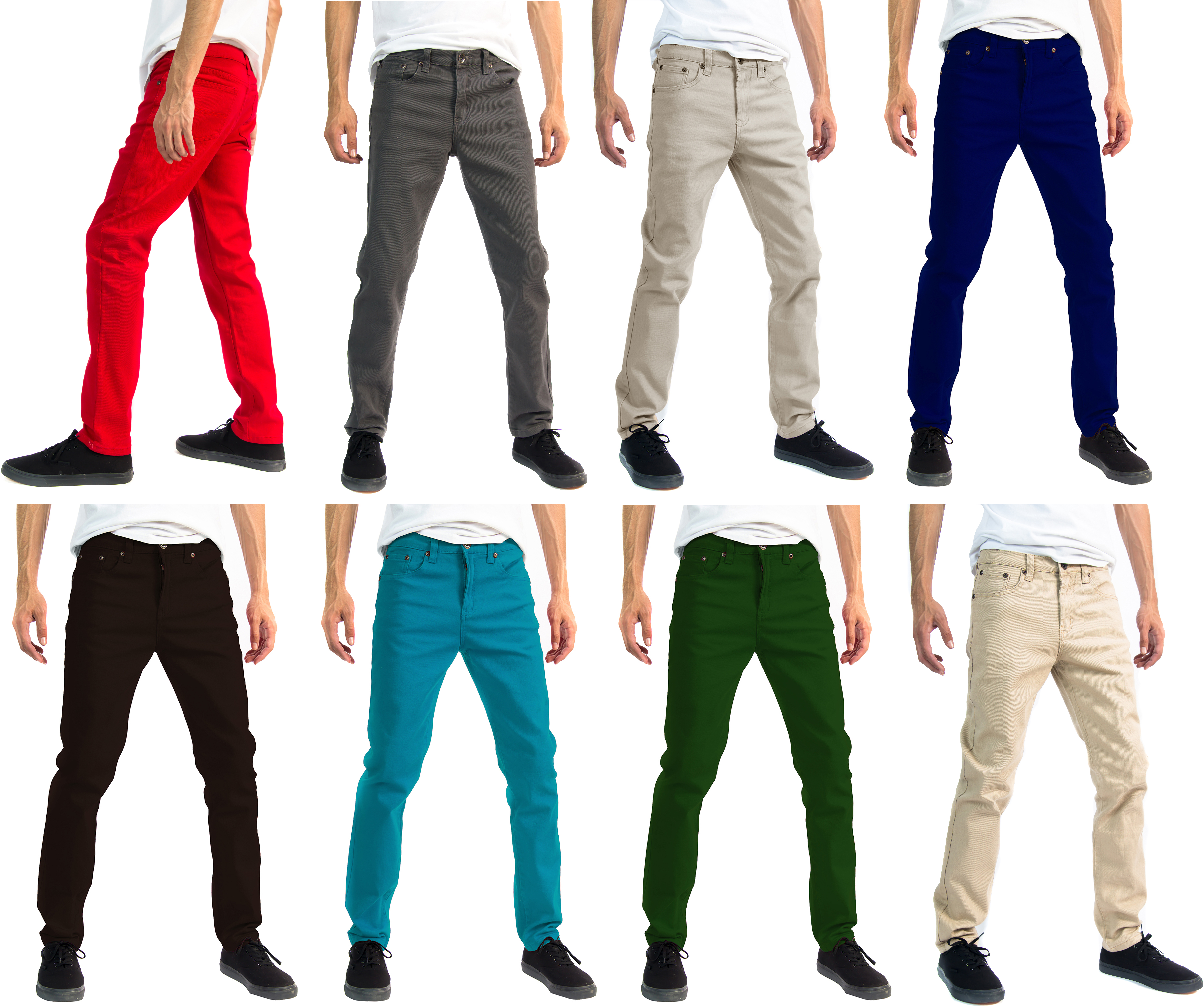 b7034d343df Slim through hip, thigh and leg. Stretch design for all day comfort.  Classic 5-Pocket Styling Zipper fly, button closure