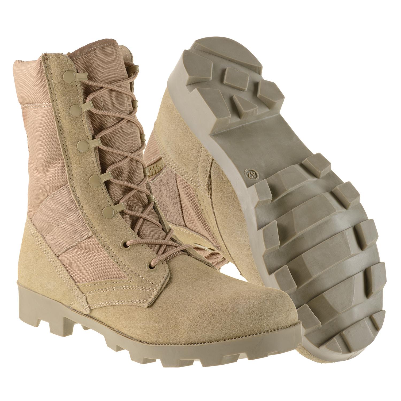 00d6cf46 Ameritac 9 Side Zip Suede Leather Combat Work Outdoor Men