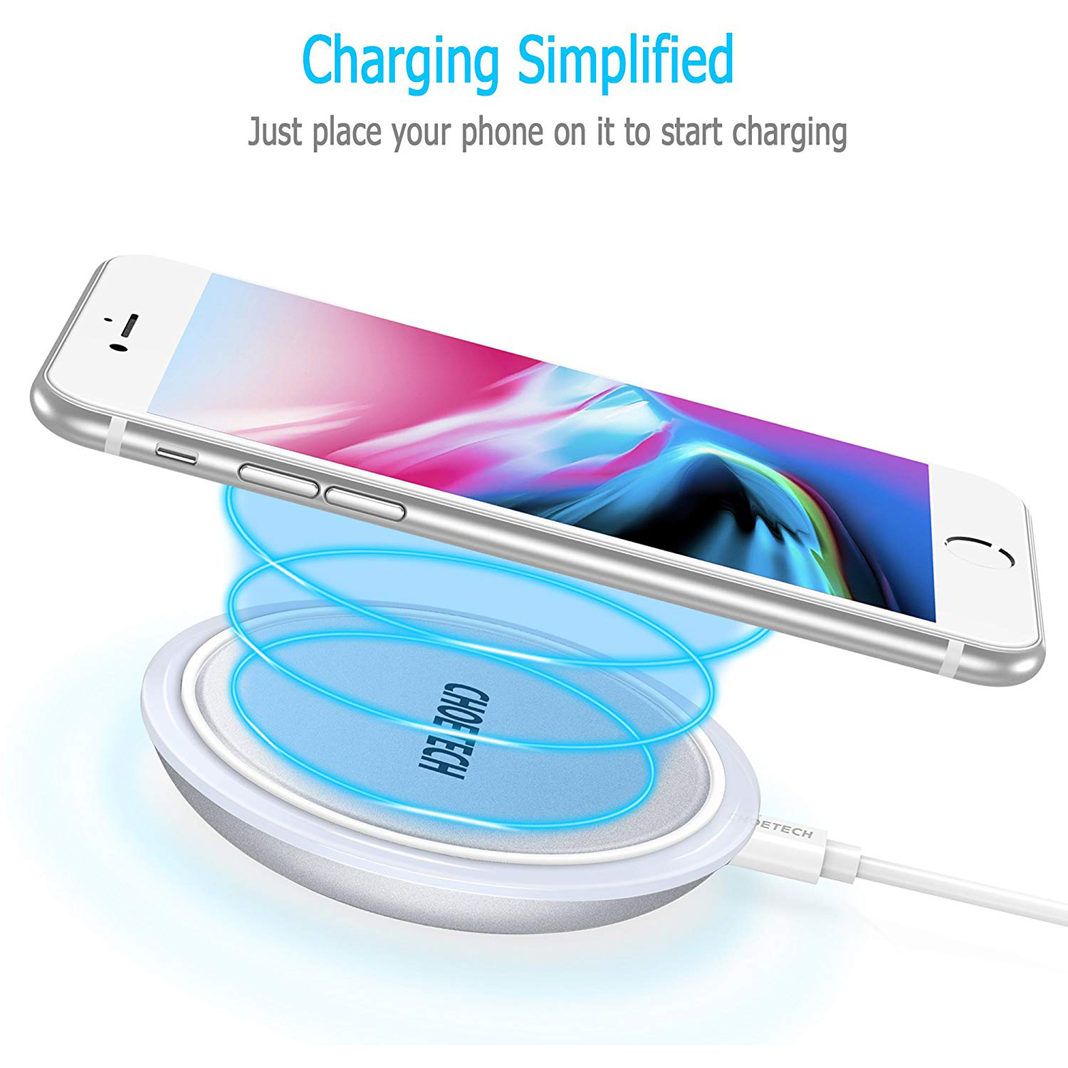 CHOETECH-Wireless-Cell-Phone-Charging-Pad-for-Qi-Enabled-Devices thumbnail 11