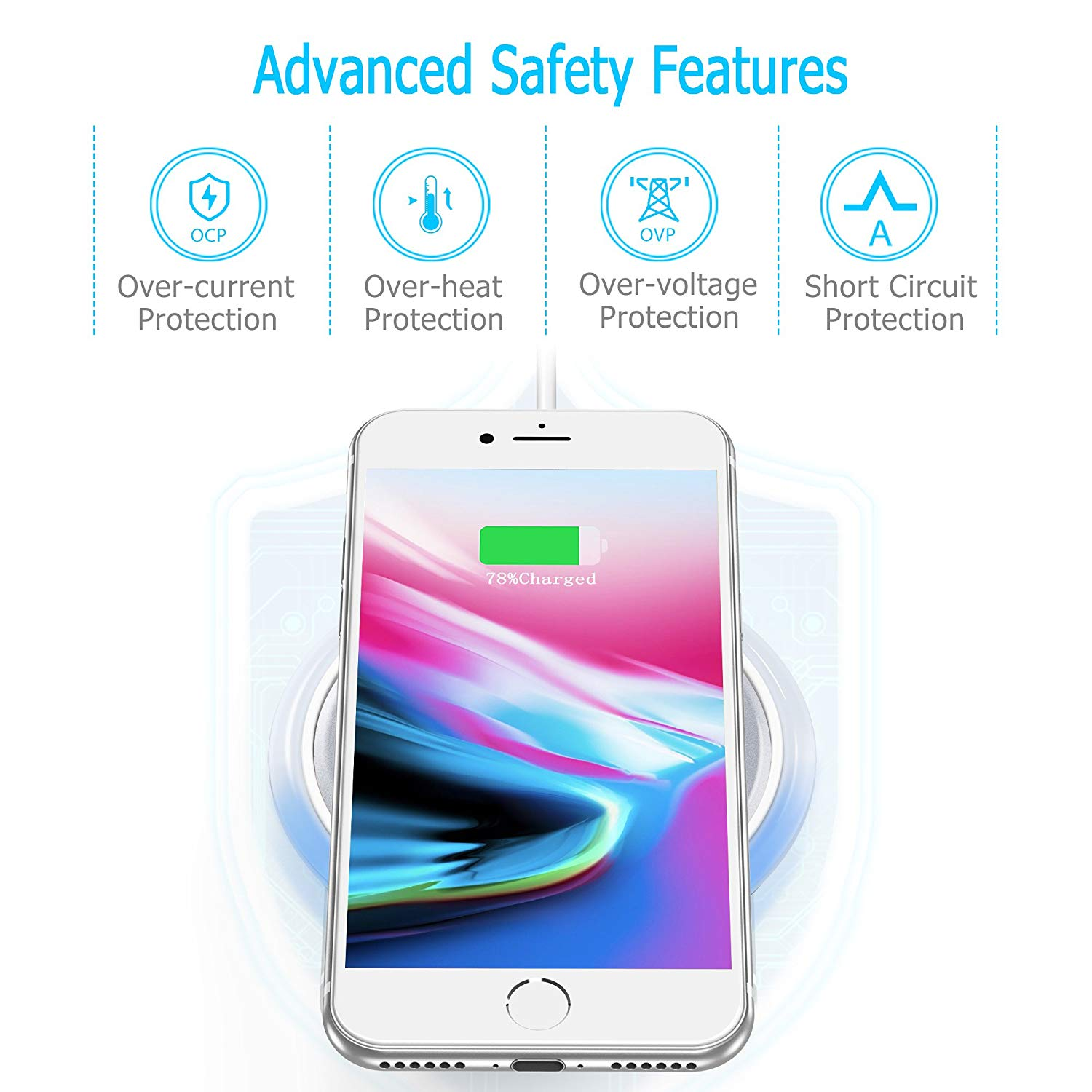 CHOETECH-Wireless-Cell-Phone-Charging-Pad-for-Qi-Enabled-Devices thumbnail 14
