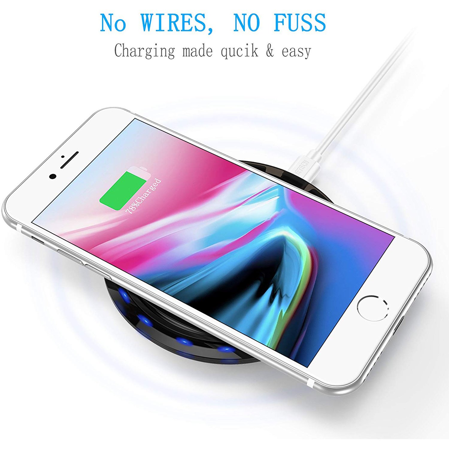 CHOETECH-Wireless-Cell-Phone-Charging-Pad-for-Qi-Enabled-Devices thumbnail 5