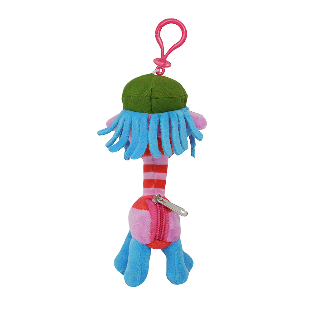 Cartoon-Plush-Coin-Clip-Toy-Bag-with-Zipper-for-Backpacks-Multiple-Styles thumbnail 44