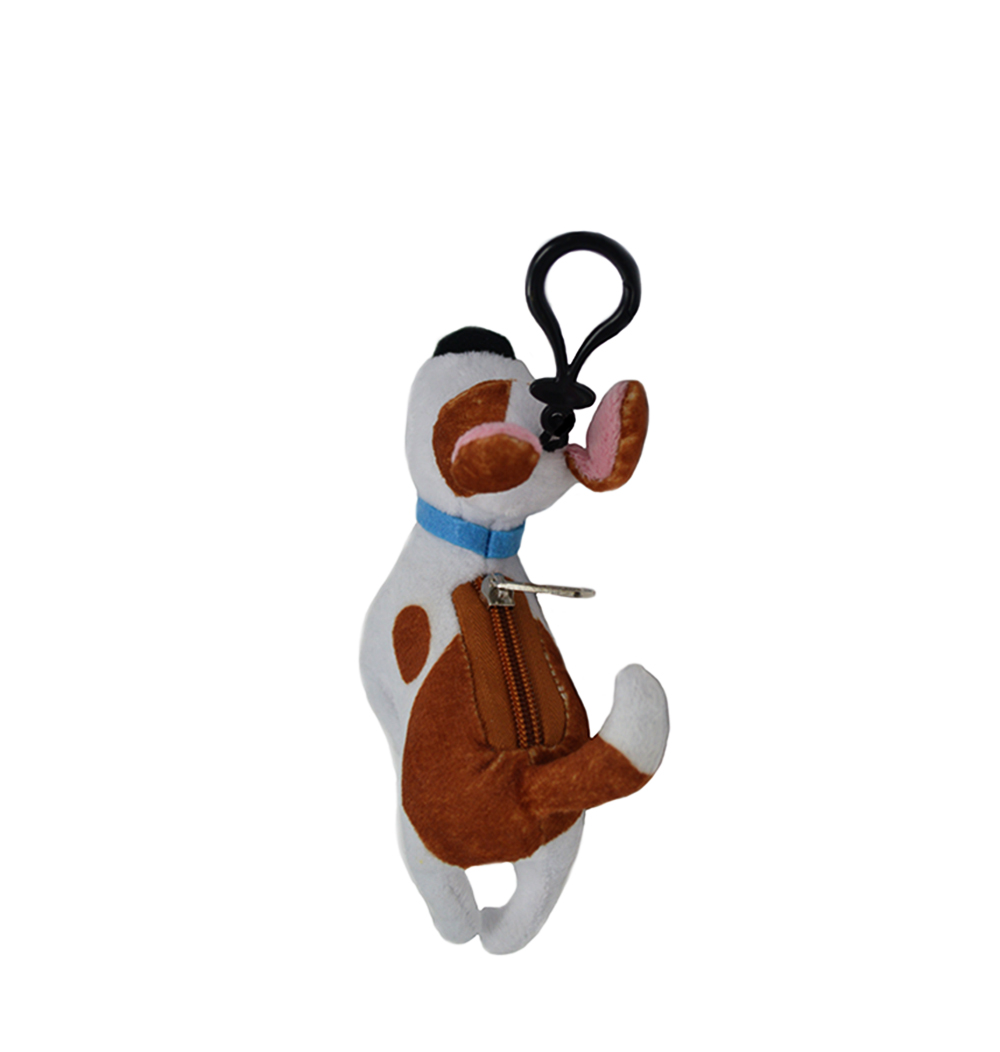 Cartoon-Plush-Coin-Clip-Toy-Bag-with-Zipper-for-Backpacks-Multiple-Styles thumbnail 5