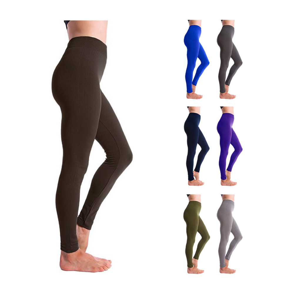 307e6441599bfd Altatac Seamless Full Length High Waist Fleece Lined Leggings for Women