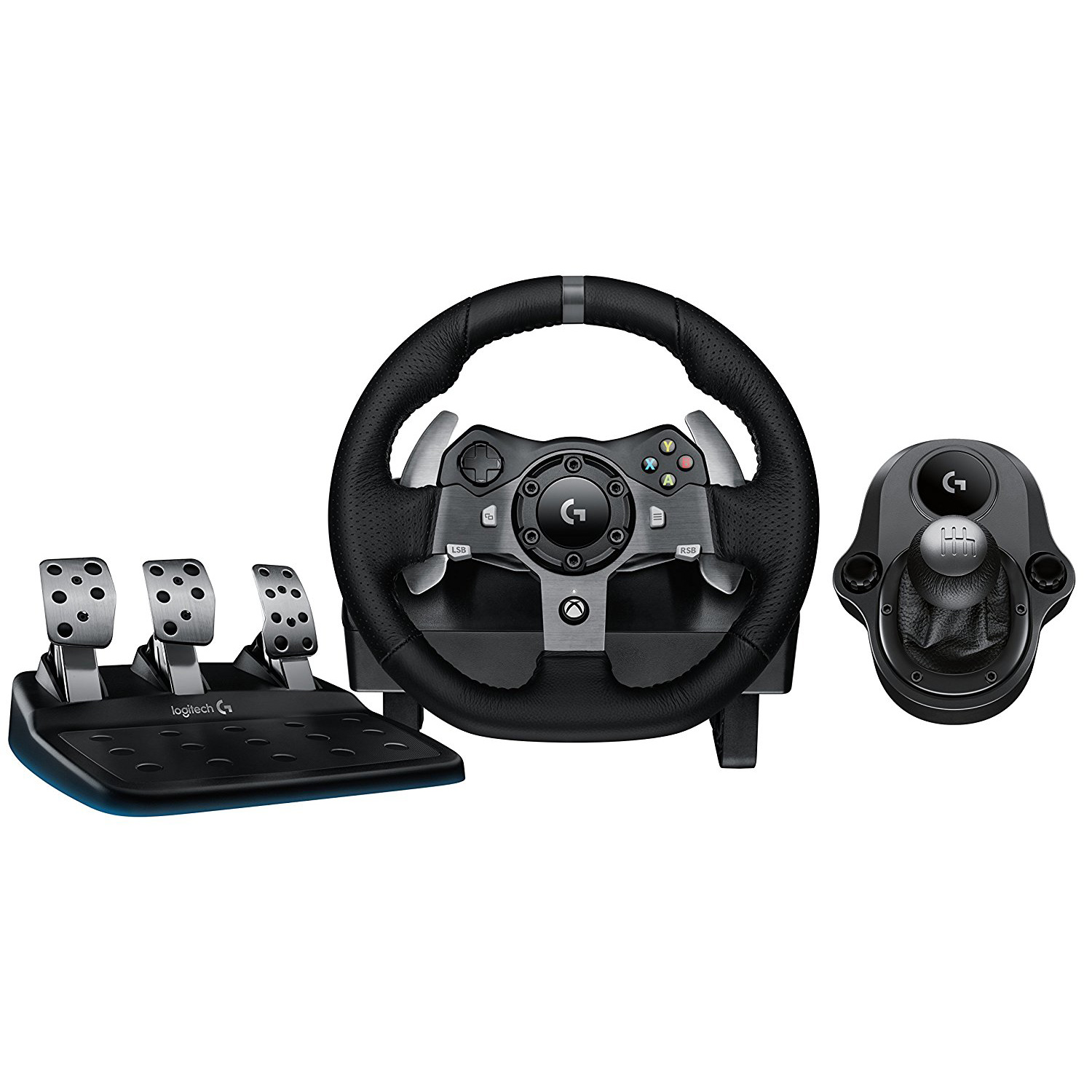 e517b36c12f Details about Logitech G920 Driving Force Racing Wheel Dual Motor Force  Feedback with Shifter
