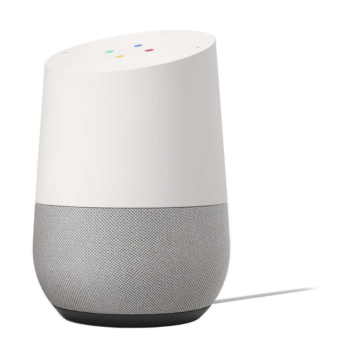 google home hands free smart speaker and voice controlled home assistant white ebay. Black Bedroom Furniture Sets. Home Design Ideas