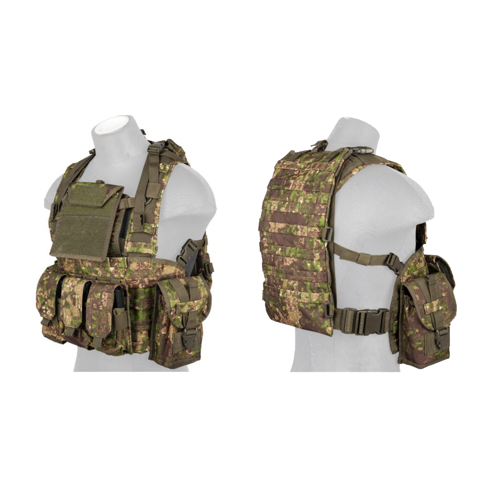 a2b9bc34155 Details about Lancer Tactical CA-307 Modular Chest Rig PALS MOLLE Vest and  Hydration Pack Slot