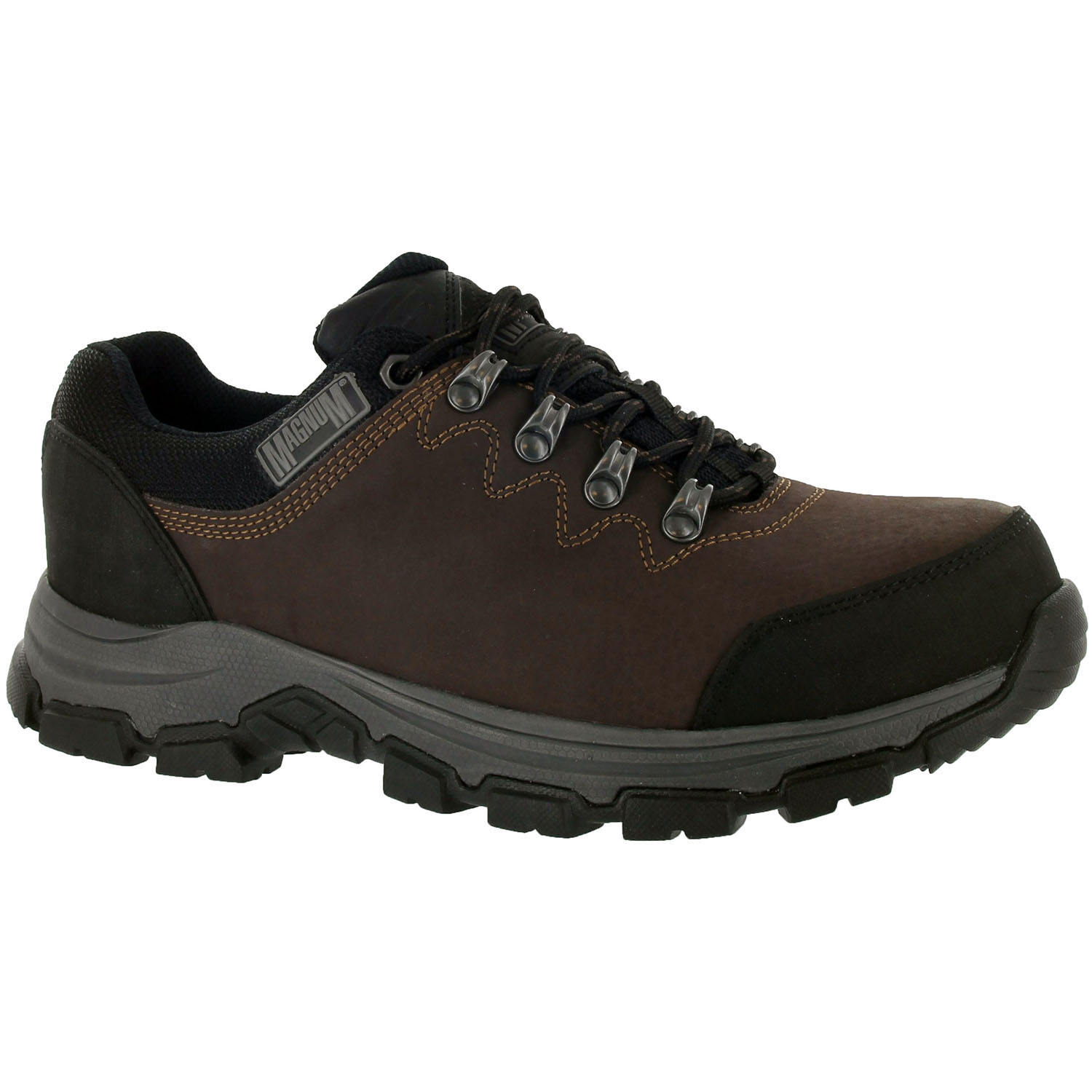 b586a0822a0 Details about Magnum Austin Low/Mid Waterproof Steel Toe Slip Resistant  Leather Work Boots