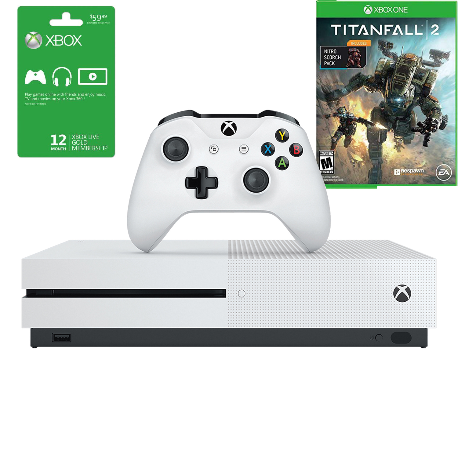 Details about Microsoft Xbox One S Console 1TB Console 12M Gold Membership  Titanfall 2 Bundle