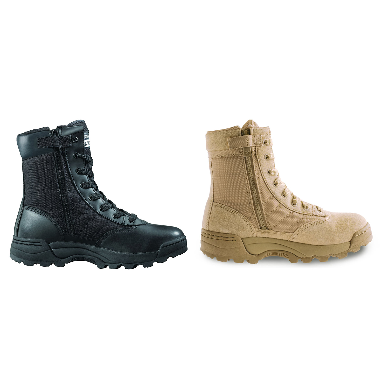 Original Swat Men's Classic 9  Tactical Police Military Boots  Side Zip 1152  first time reply