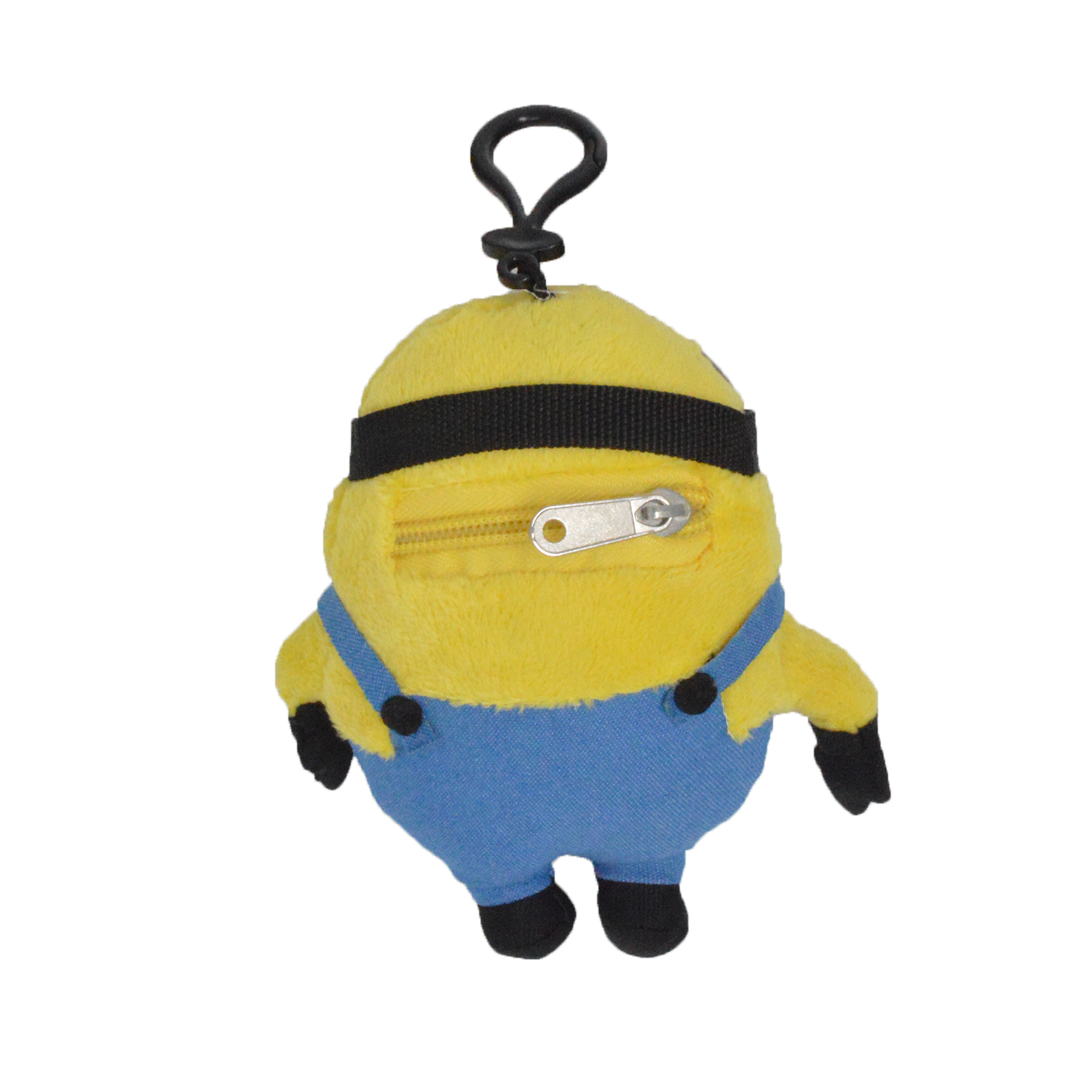 Cartoon-Plush-Coin-Clip-Toy-Bag-with-Zipper-for-Backpacks-Multiple-Styles thumbnail 12
