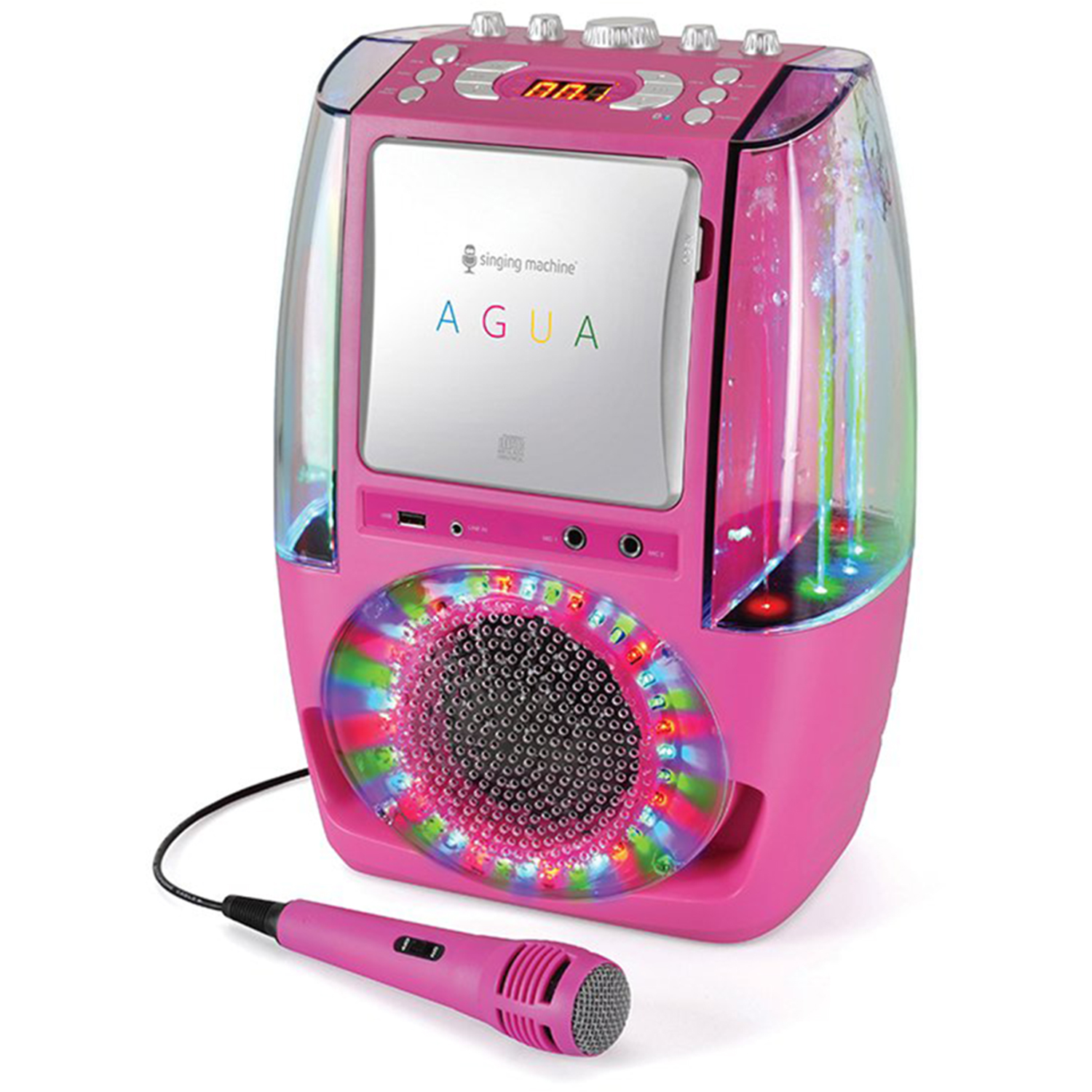 Singing-Machine-Agua-SML605-At-Home-Karaoke-System-w-LED-Disco-Lights thumbnail 11