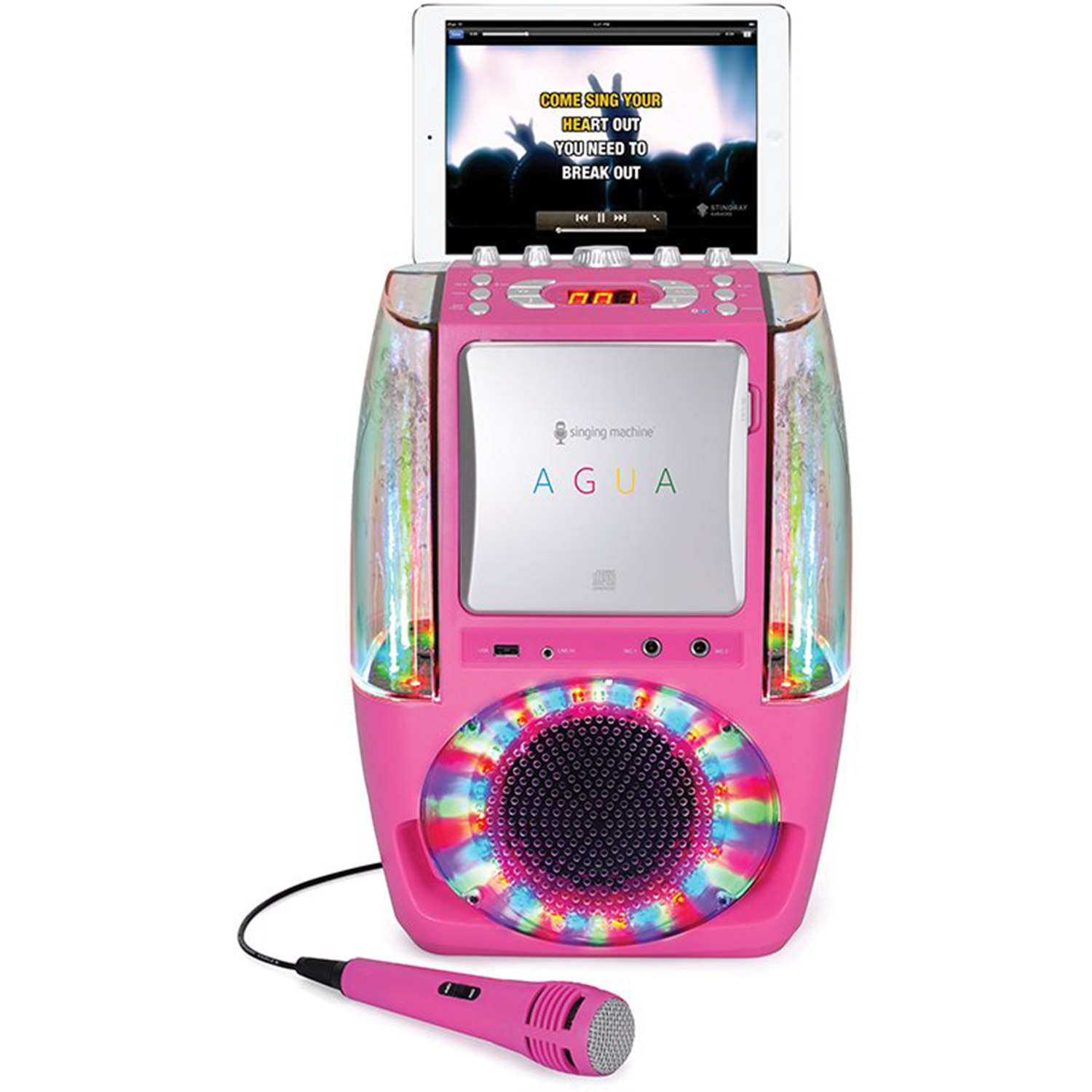 Singing-Machine-Agua-SML605-At-Home-Karaoke-System-w-LED-Disco-Lights thumbnail 12