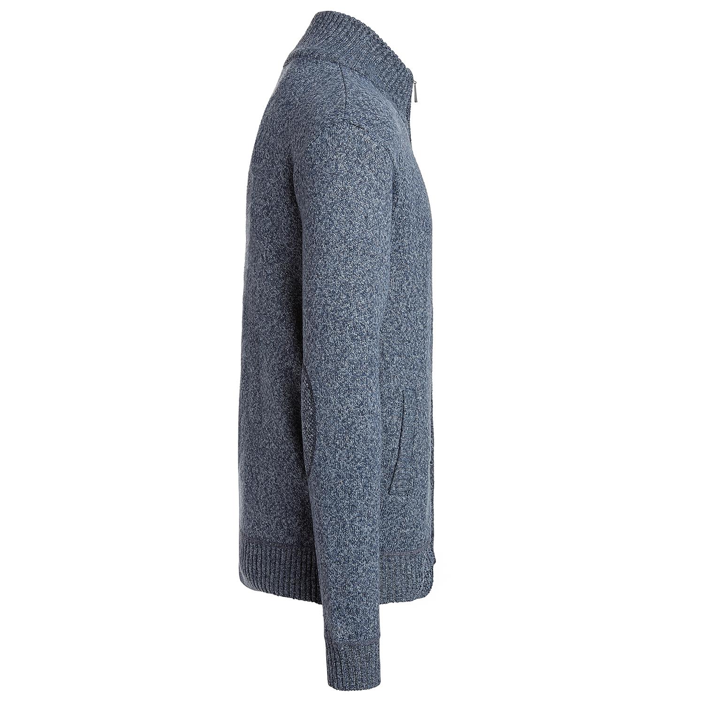 Alta-Men-039-s-Casual-Long-Sleeve-Full-Zip-Mock-Neck-Sweater-Jacket thumbnail 7